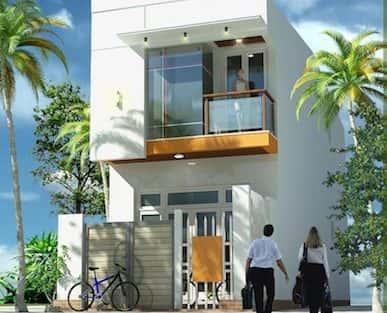 Thiết kế nhà 2 tầng trên đất diện tích 80 m2