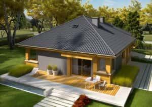 nha cap 4 don gian dep 003 300x211 - Thiết kế nhà vườn đẹp