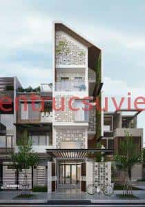 nha dep 3009 a 210x300 - Thiết kế nhà phố đẹp hiện đại 4 tầng