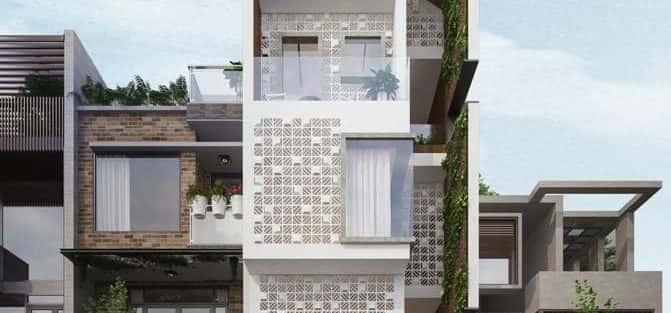 Thiết kế nhà phố đẹp hiện đại 4 tầng