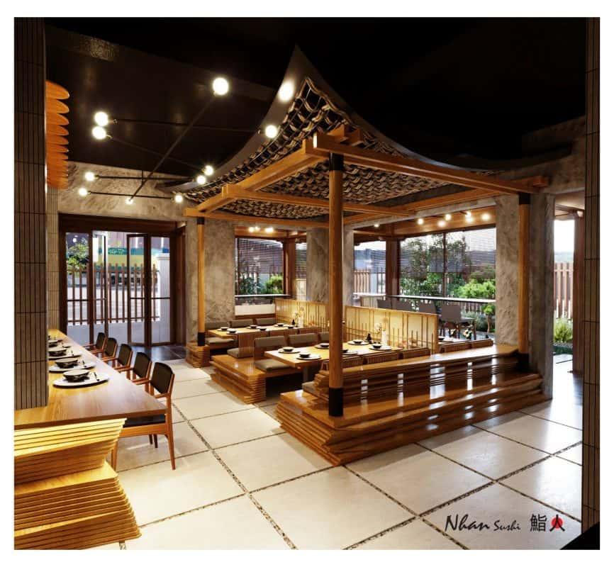 nha hang nhat ban dep 866x800 - Thiết kế nhà hàng đẹp phong cách Nhật Bản