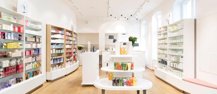 Tham khảo 12 mẫu thiết kế nội thất cửa hàng mĩ phẩm đep nhất 2016