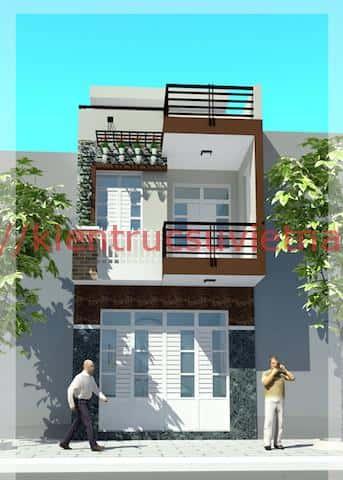 thiet ke nha 2 tang 1a - 16 Mẫu thiết kế nhà 2 tầng đẹp