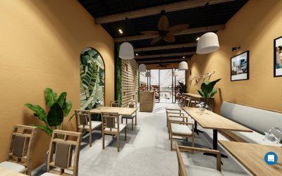 thiet ke noi that nha hang chi huong 400x250 - Thiết kế nội thất nhà hàng Ms Hương