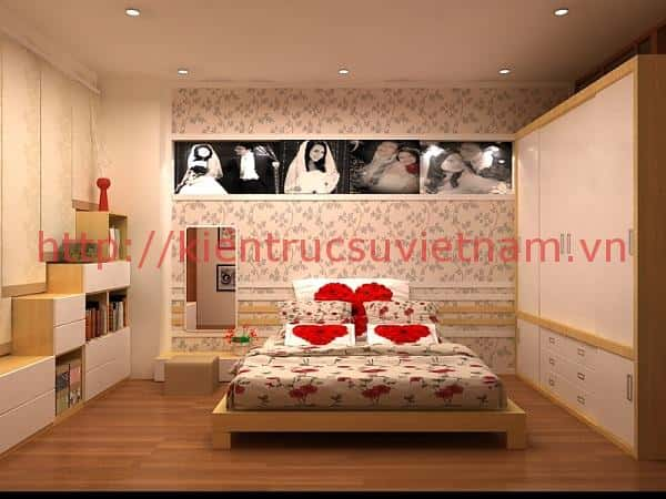 thiet ke noi that phong ngu cho mua cuoi 002 - Nội thất phòng ngủ hiện đại sang trọng