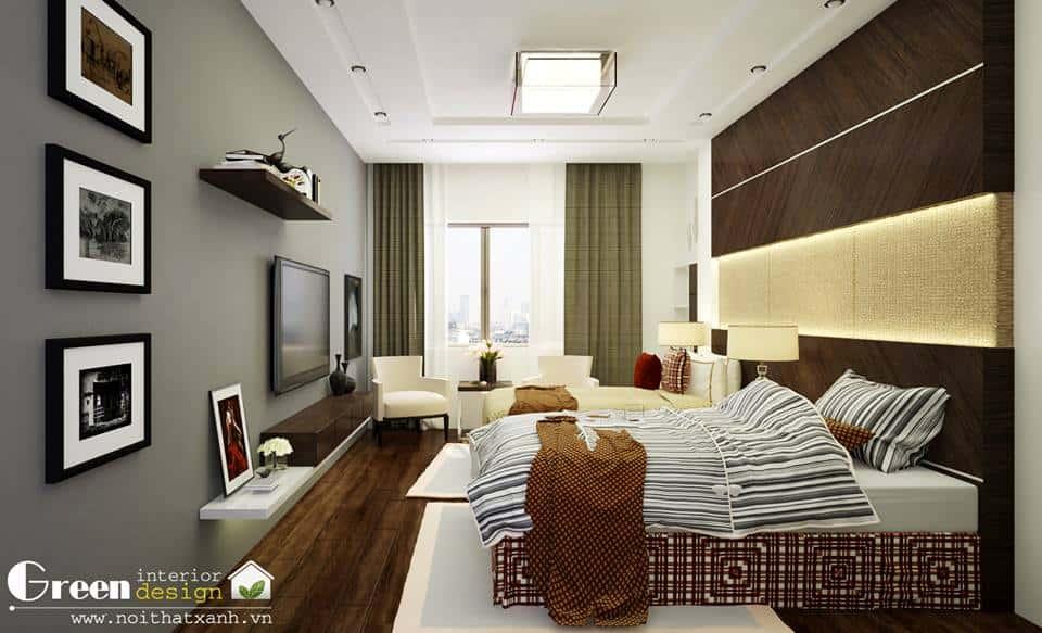 thiet ke noi that phong ngu noi that xanh 006 - Tốp 100 mẫu  thiết kế nội thất phòng  ngủ đẹp nhất 2016