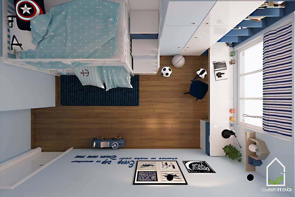 thiet ke noi that phong ngu noi that xanh 011 - Tốp 100 mẫu  thiết kế nội thất phòng  ngủ đẹp nhất 2016