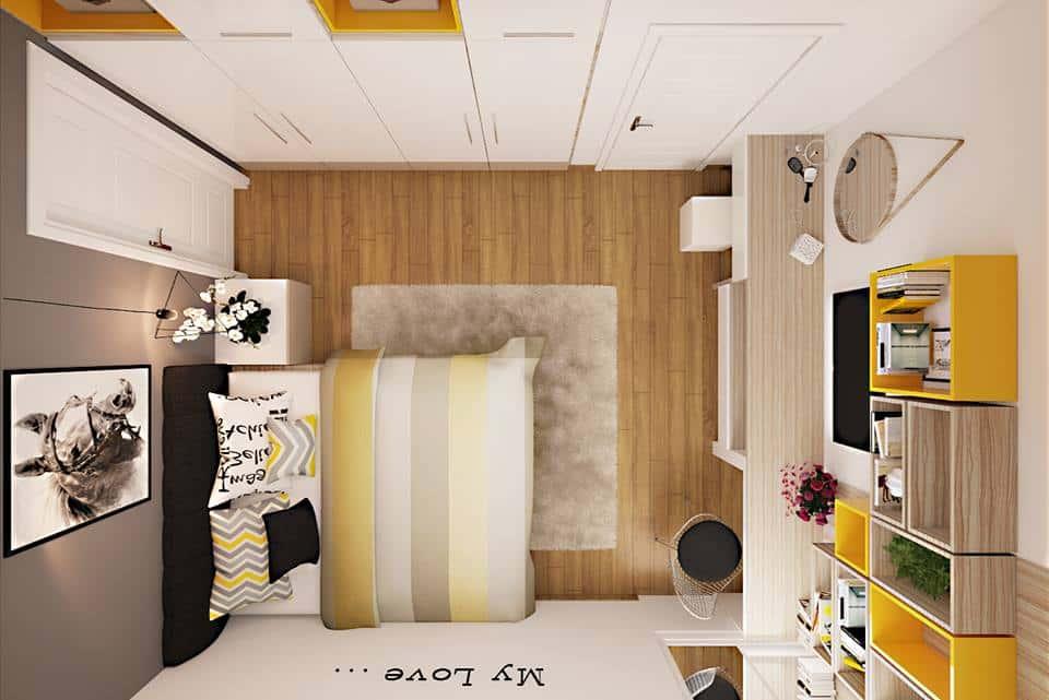 thiet ke noi that phong ngu noi that xanh 0114 - Tốp 100 mẫu  thiết kế nội thất phòng  ngủ đẹp nhất 2016