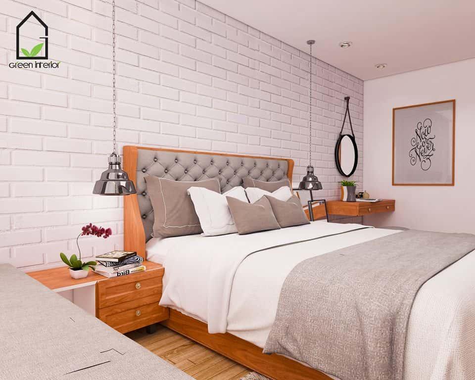 thiet ke noi that phong ngu noi that xanh 017 - Thiết kế nội thất phòng ngủ