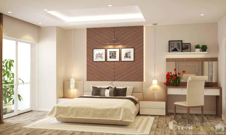 thiet ke noi that phong ngu noi that xanh 019 - Tốp 100 mẫu  thiết kế nội thất phòng  ngủ đẹp nhất 2016