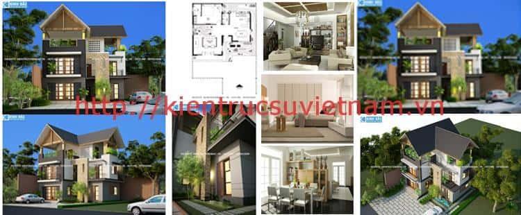 BIET THU 3 TANG DOC SON - Thiết kế nhà đẹp ở tại tphcm