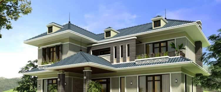 Thiết kế biệt thự 2 tầng đẹp tại Bắc Ninh đẹp sang trọng