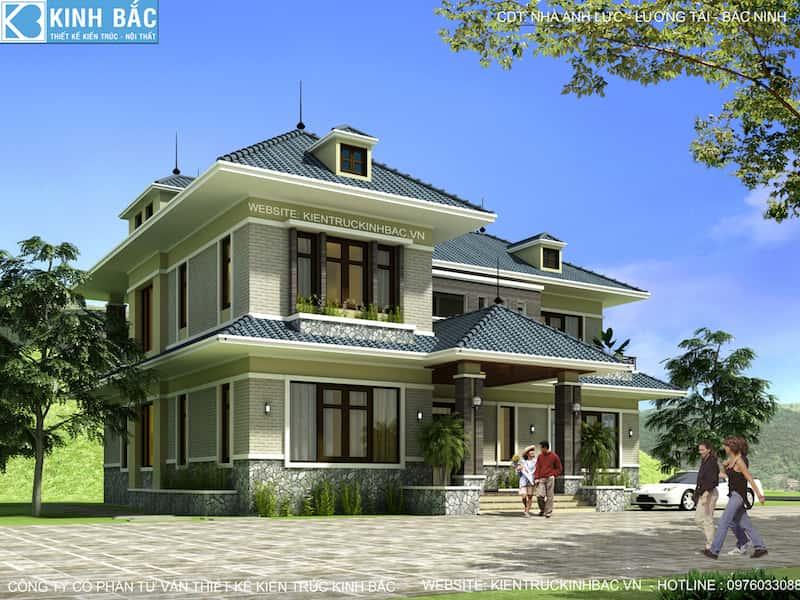 biet thu 2 tang dep bac ninh 4 - 30 Mẫu thiết kế biệt thự với kiến trúc hiện đại đẹp