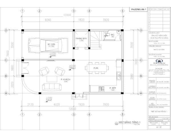 mat bang tang 2 nha 6 tang c - Thiết kế nhà 6 tầng đẹp