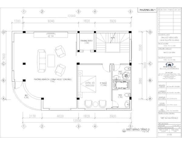 mat bang tang 2 nha 6 tang - Thiết kế nhà 6 tầng đẹp