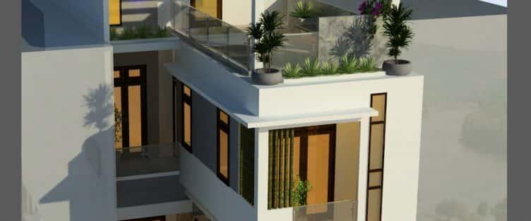 Thiết kế nhà 2 tầng đẹp tại tp Ninh Bình