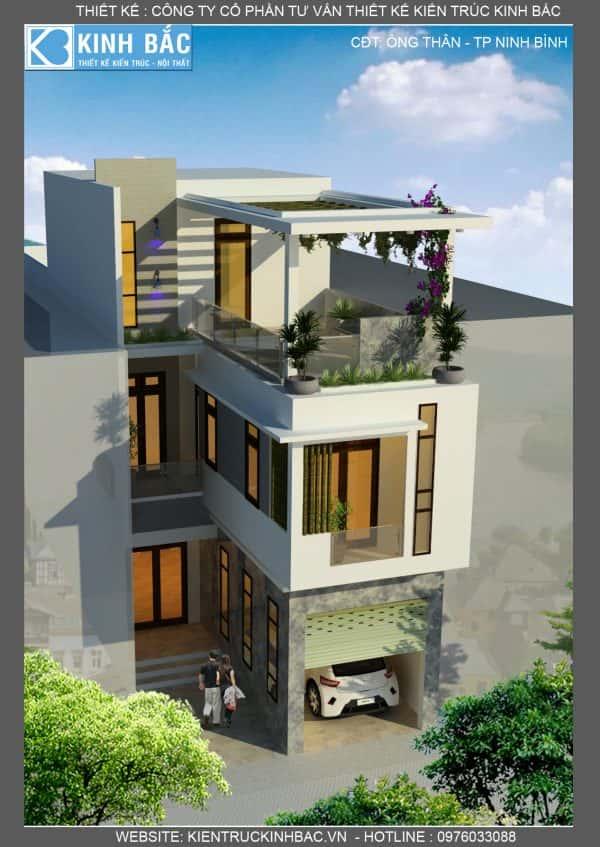mau nha 3 tang dep tp ninh binh 4 e1503924607947 - Thiết kế nhà 3 tầng đẹp
