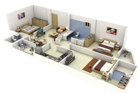 Mẫu thiết kế nhà đẹp với 3 phòng ngủ