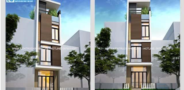 Thiết kế nhà đẹp 4 tầng cô Diệp Định Công