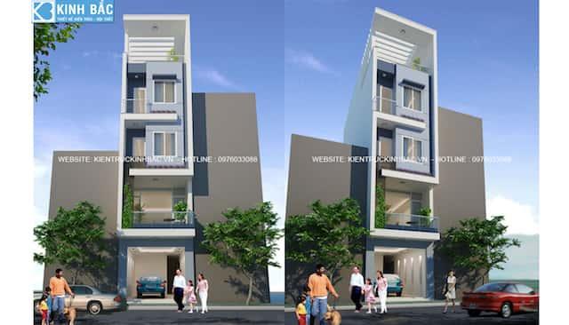 nha 5 tang pc1 - Thiết kế nhà 5 tầng đẹp
