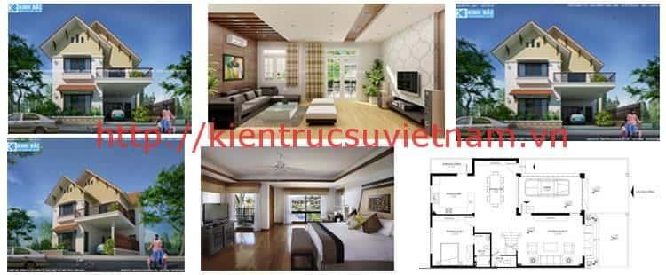 Thiết kế nhà đẹp 2 tầng cô Bắc ở Sơn Động