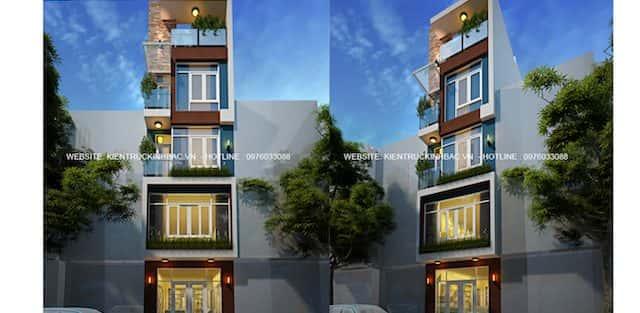 Thiết kế nhà 5 tầng anh Năng Đê La Thành