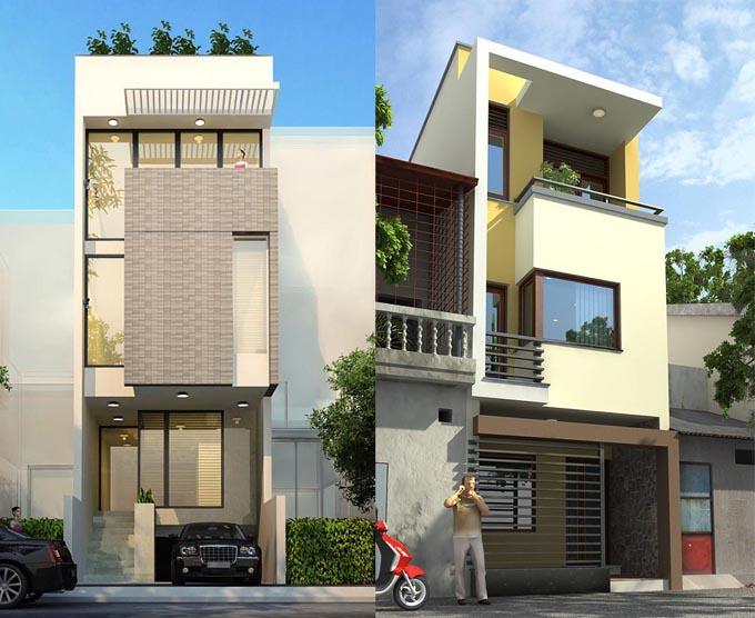 thiết kế nhà 3 tầng mặt tiền 3m - Bản vẽ cad thiết kế nhà phố 3 tầng diện tích 5x8 lệch tầng