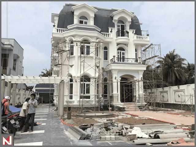thi cong biet thu dep gia dinh chi yen 2 - Thi công xây dựng biệt thự ở tại Đà Nẵng