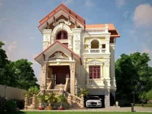 thi cong biet thu phap 1 300x225 - Thi công xây dựng biệt thự ở tại Hà Nội