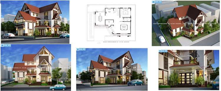 Thiết kế biệt thự 3 tầng hiện đại anh Thọ ở Ninh Bình
