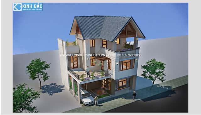 thiet ke nha 2 tang chi giang ninh binhG3 - Thiết kế nhà đẹp Vĩnh Long