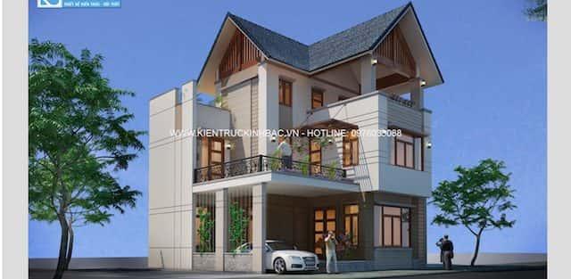 Thiết kế nhà đẹp 2 tầng hiện đại chị Giang tp Ninh Bình