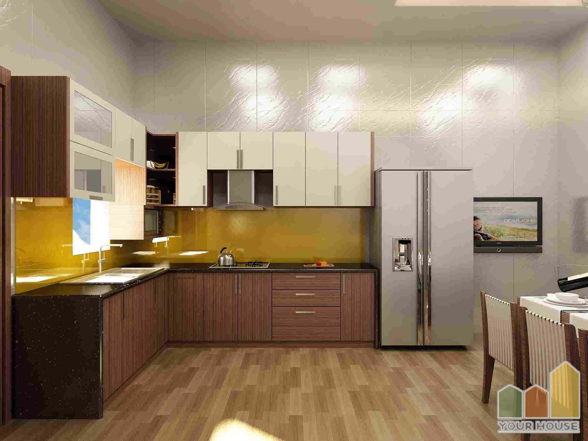 thiet ke noi that phong bep nha ong 5 - 10 mẫu nội thất phòng bếp nhà ống phổ biến nhất