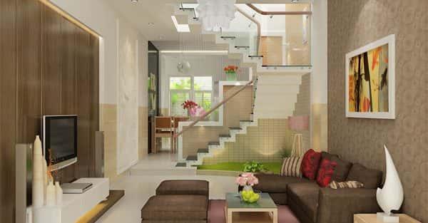 Tư vấn thiết kế nội thất nhà phố 2 tầng mặt tiền 3,5 m