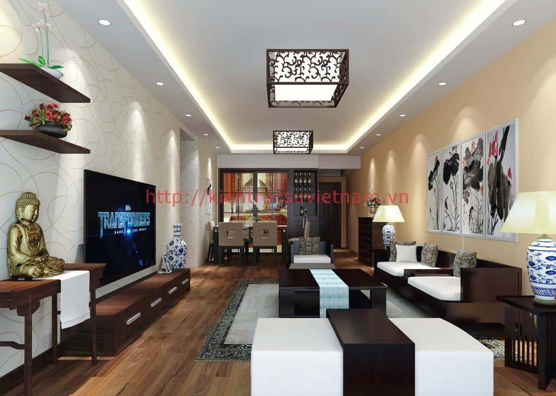 thiet ke noi that phong khach nha ong 012 - Thiết kế nội thất phòng khách - 4 bước đơn giản tạo nên không gian đẹp