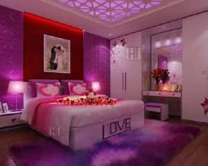 thiet ke noi that phong ngu cho mua cuoi 007 300x239 - Tư vấn thiết kế nội thất chung cư 80m2