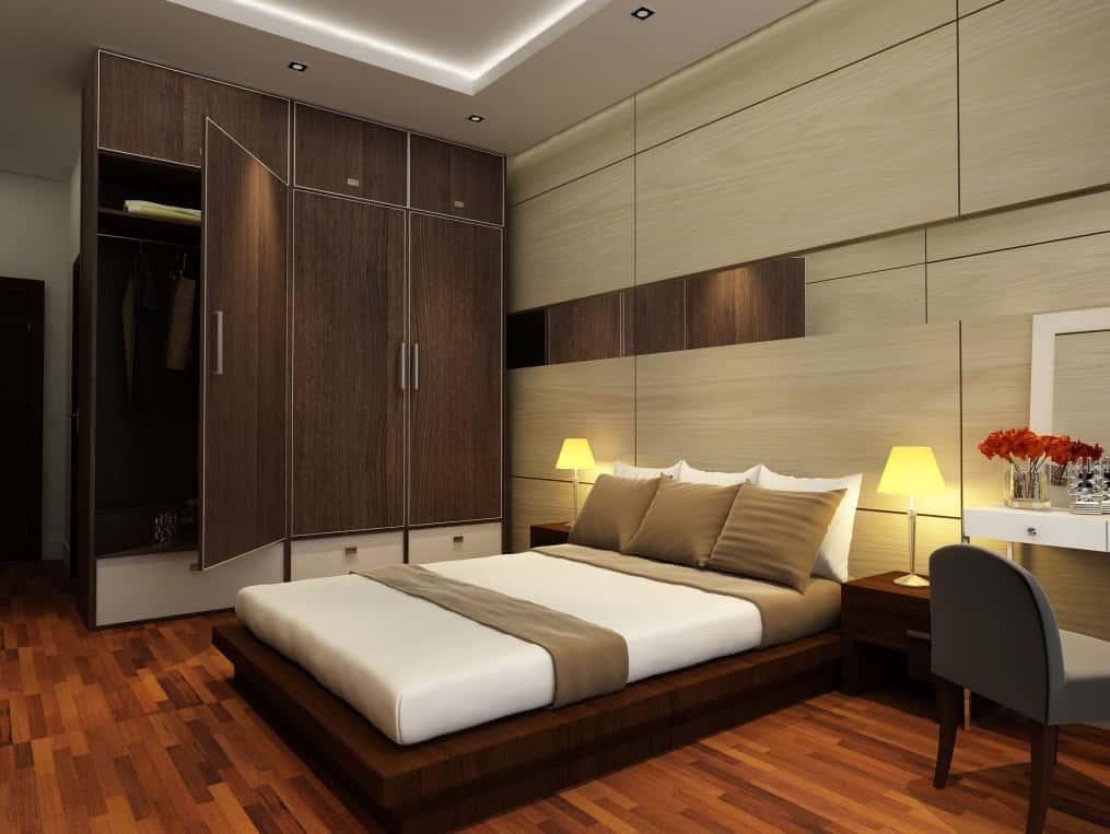 thiet ke noi that phong ngu nha ong 018 - Thiết kế nội thất chung cư 2 phòng ngủ