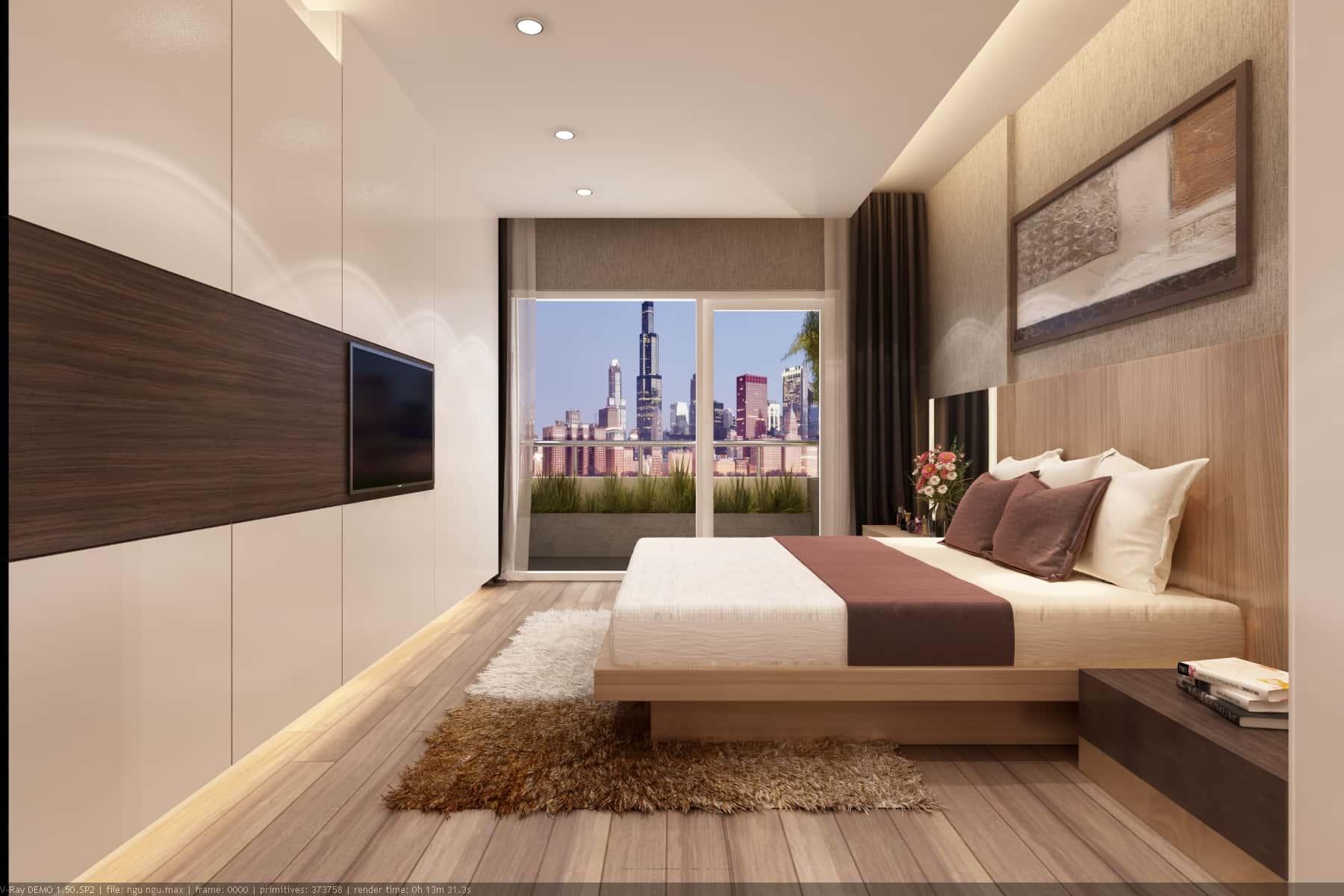 chung cư 2 phòng ngủ