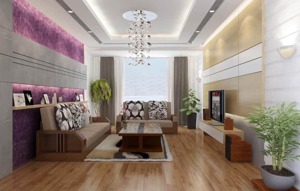 thiet ke phong khach don gian 01 - Thiết kế nội thất phòng khách - 4 bước đơn giản tạo nên không gian đẹp