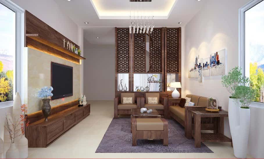 thiet ke phong khach don gian 02 1 - Thiết kế nội thất phòng khách - 4 bước đơn giản tạo nên không gian đẹp