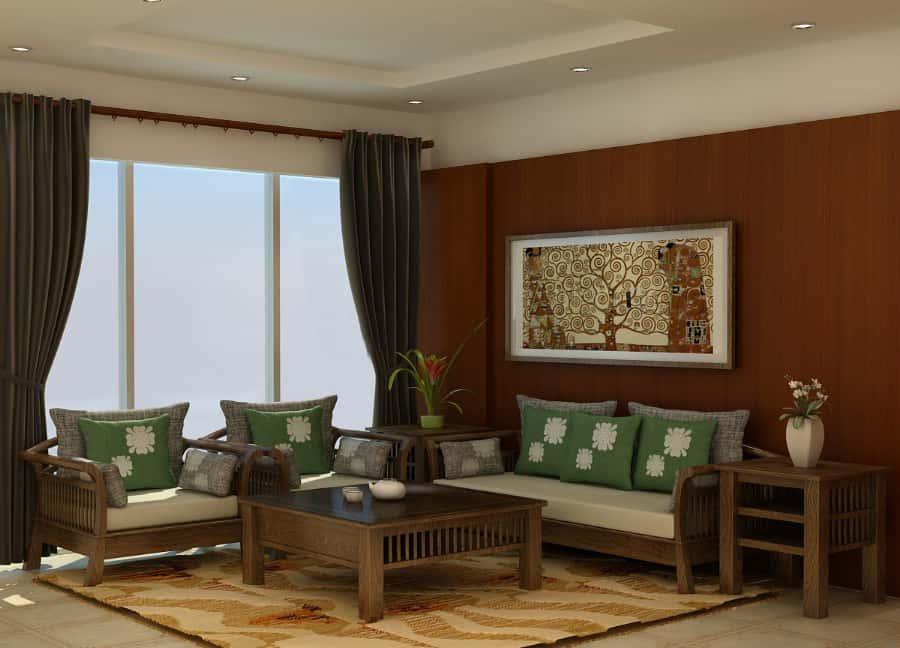 thiet ke phong khach don gian 05 - Thiết kế nội thất phòng khách - 4 bước đơn giản tạo nên không gian đẹp