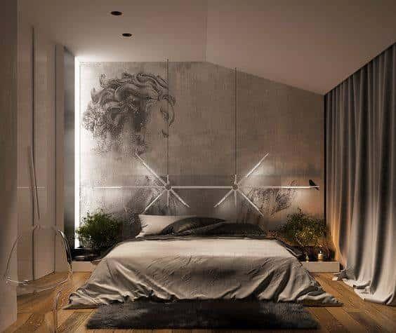 thiet ke phong ngu nha ong hien dai 001 1 - Thiết kế nội thất chung cư 2 phòng ngủ