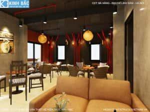 thiet ke quan cafe linh dam 5 300x225 - Thi công xây dựng quán cafe tại Bắc Giang