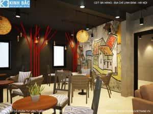 thiet ke quan cafe linh dam 6 300x225 - Các dự án thiết kế quán cafe tại TP HCM