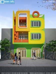 thiet ke truong mam non my hao hung yen 1 225x300 - Thiết kế nội thất trường mầm non tại Thái Bình