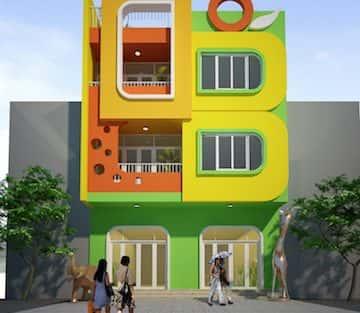 Thiết kế nội thất trường mầm non tại Thái Bình