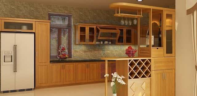 Tham khảo 10 thiết kế nội thất tủ bếp gỗ bền đẹp  cho không không gian bếpn bếp