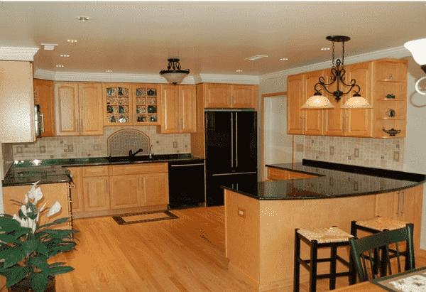 tu bep go 004 - Nội thất phòng bếp hiện đại
