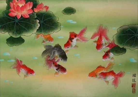 ve hoa sen 571x400 - Những bức tranh vẽ hoa sen đẹp nhất