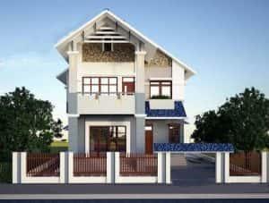 biet thu 2 tang 900 trieu b 300x227 - 28 Mẫu thiết kế nhà 2 tầng mái ngói đẹp